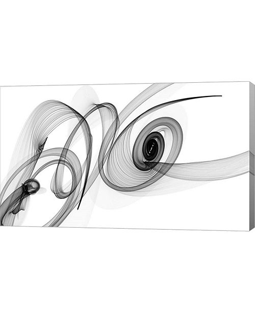 """Metaverse Abstract Black and White Art 2015-03-08 by Irena Orlov Canvas Art, 26.5"""" x 16"""""""