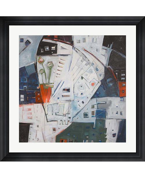 "Metaverse Jazz in Bloom by Tim Nyberg Framed Art, 32"" x 32"""