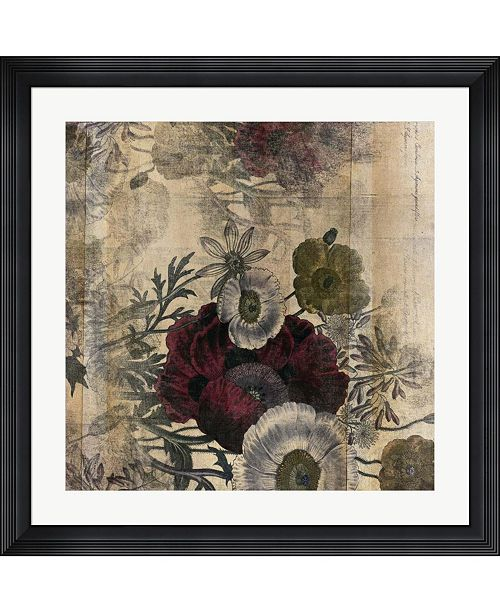 "Metaverse Floral Collage Burgandy Bloom by Marcee Duggar Framed Art, 32"" x 32"""