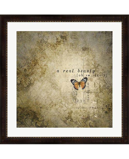 "Metaverse Real Beauty Butterfly by Marcee Duggar Framed Art, 32"" x 32"""
