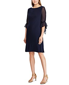 Ruffled Georgette-Sleeve Dress