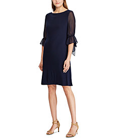 Lauren Ralph Lauren Ruffled Georgette-Sleeve Dress