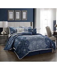 Kelton 7-Piece Queen Comforter Set