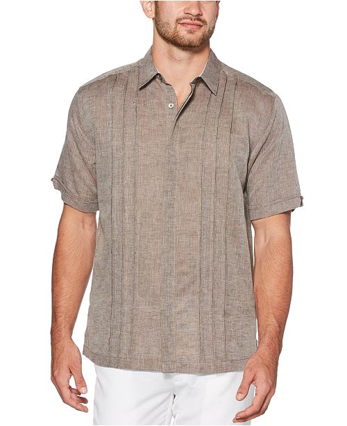 Cubavera Men's Big & Tall Cross-Dyed Pintucked Shirt