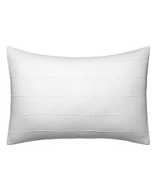 Vera Wang Linear Tucks White Linen Breakfast Pillow