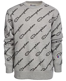 Big Boys Printed Fleece Sweatshirt