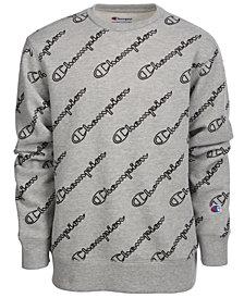 Champion Big Boys Printed Fleece Sweatshirt