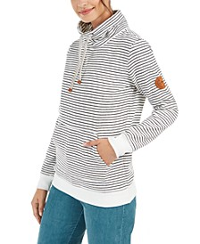 Juniors' Worlds Away Striped Fleece Sweatshirt