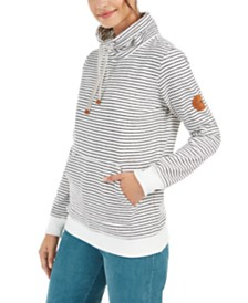 Roxy Juniors' Worlds Away Striped Fleece Sweatshirt