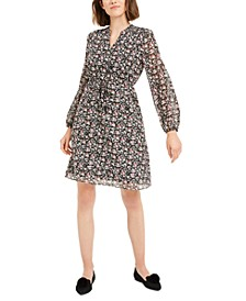 Printed Clip-Dot Dress, Created for Macy's