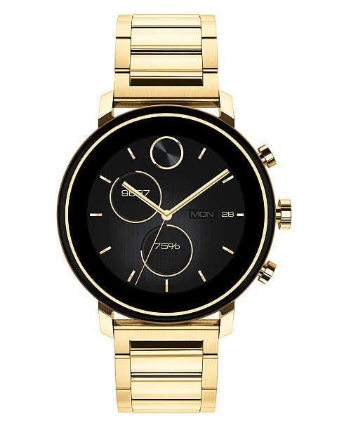 Movado Connect 2.0 Gold-Tone Stainless Steel Bracelet Touchscreen Hybrid Smart Watch 42mm