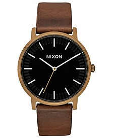 Men's Porter Leather Strap Watch 40mm