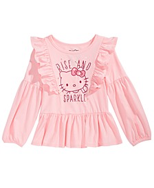 Little Girls Ruffled Rise And Sparkle Top