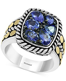 EFFY® Tanzanite Cluster Ring (1-7/8 ct. t.w.)  in Sterling Silver and 18k Gold