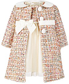 Baby Girls 2-Pc. Tweed Coat & Dress Set