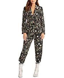 Carin Floral-Print Jogger Pants