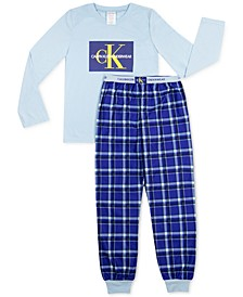 Big Boys 2-Pc. Brushed Pajamas Set