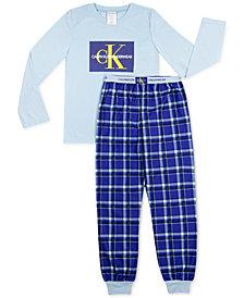 Calvin Klein Big Boys 2-Pc. Brushed Pajamas Set