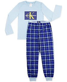 Calvin Klein Big Boys 2-Pc. Brushed Pajamas Set