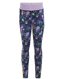 Calvin Klein Performance Big Girls Floral-Print Leggings