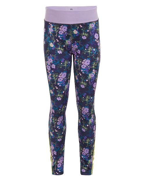 Calvin Klein Big Girls Floral-Print Leggings