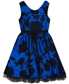 Rare Editions Toddler Girls Flocked Floral Dress
