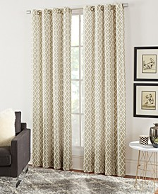 "Lara 54"" x 84"" Geometric Print Curtain Set"