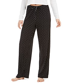 Dot-Print Pajama Pants