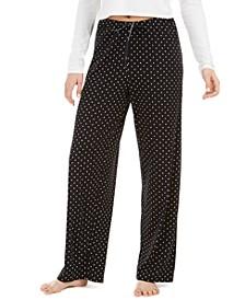 Dot-Print Pajama Pants