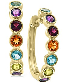 EFFY® Multi-Gemstone (1-5/8 ct. t.w.) Hoop Earrings in 14k Gold