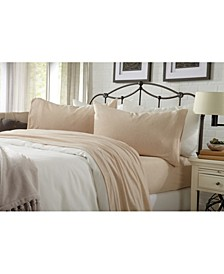 Great Bay Home Heathered Super Soft Jersey Knit Twin Sheet Set