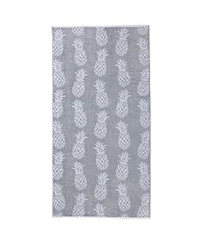 Great Bay Home Jacquard Plush Nautical Oversized Beach Towel