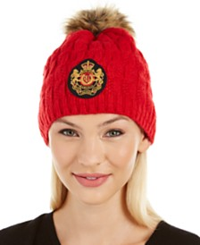 Lauren Ralph Lauren Cable-Knit Patch Beanie