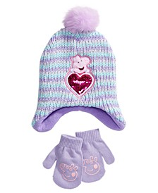 Toddler Girls Peppa Pig 2-Pc. Hat & Mittens Set
