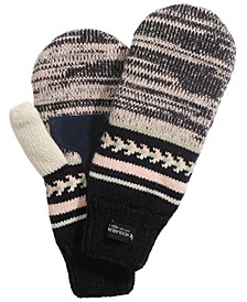 Fair Isle Blocked Knit Mittens