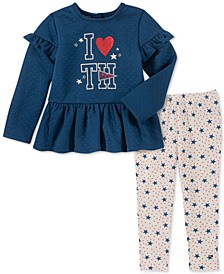 Baby Girls 2-Pc. Peplum Tunic & Star-Print Leggings Set