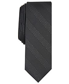 INC Men's Skinny Textured Stripe Tie, Created for Macy's