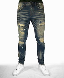 INDIGO DISTRESSED JEAN