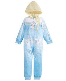 AME Toddler Girls 1-Pc. Frozen Hooded Fleece Pajamas