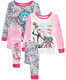 Toddler Girls 4-Pc. Cotton Pajama Set