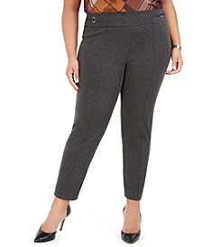 Plus Size Pull-On Ponte Pants