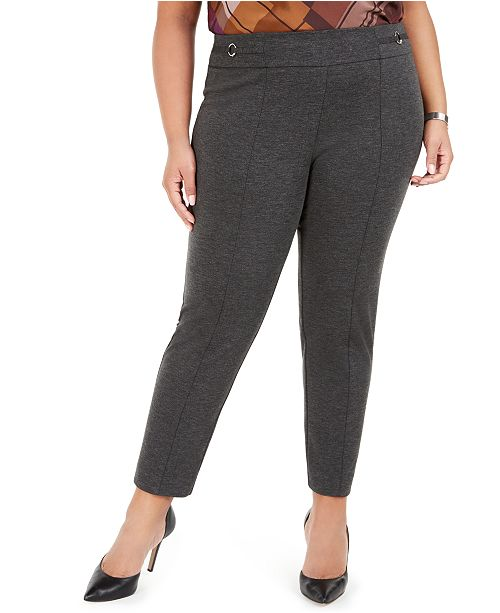 Nine West Plus Size Pull-On Ponte Pants