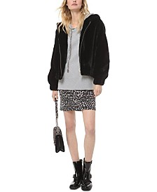 Michael Michael Kors Hooded Faux-Fur Jacket, Regular & Petite Sizes