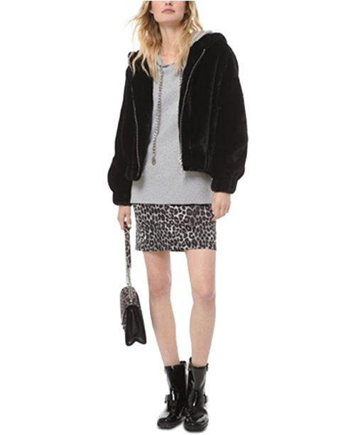 Michael Kors Hooded Faux-Fur Jacket, Regular & Petite Sizes