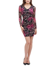 Printed Lace Stretch Sheath Dress