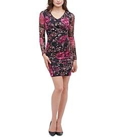 Printed Lace Stretch Sheath Dress