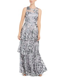 Calvin Klein Embellished Tiered Gown