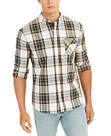 Men's Large Plaid Button-Down Shirt