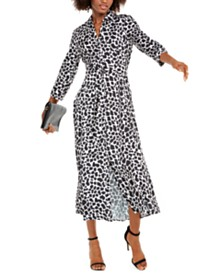 I.N.C. Animal-Print Maxi Shirtdress, Created For Macy's