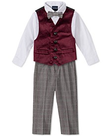 Baby Boys 4-Pc. Bowtie, Shirt, Velvet Vest & Pants Set